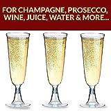 Sektgläser Plastik 50 Stück Einweg Champagnergläser 0,1l Bruchfest – Glasklar – Höhe 16cm - 2