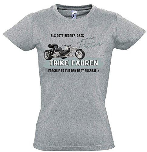 Siviwonder Gott besten Trike Fahren Vintage Bike NO Fußball Dreirad Motorrad - Women Girlie T-Shirt Sports Grey S -34