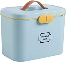 HLHHL-Storage Bag Scatola di Medicinali Scatola di Medicina ABS Doppio Strato Medicina Forniture Mediche Kit di Primo Soccorso Auto Casa