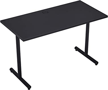 Vicllax Gaming Desk 47-Inch Modern Computer Writing Workstation Desk for Home Office, Black