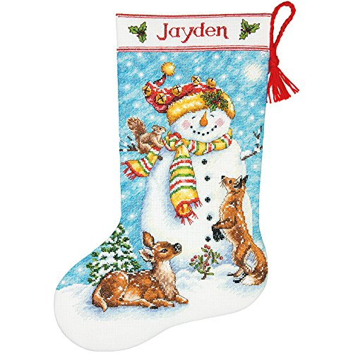 Dimensions Needlecrafts Counted Cross Stitch 'Winter Friends' Personalized Christmas Stocking Kit, 16'