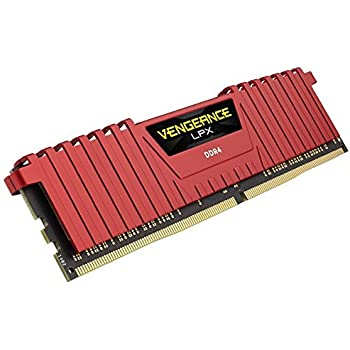 Corsair Vengeance LPX 4GB DRAM 2400MHz C14 Memory Kit for DDR4 Systems Red