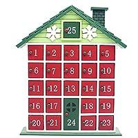 ♠ Materiali in legno di alta qualità, questo calendario dell'avvento di Natale è decorato con i preferiti di Natale molto dettagliati. Un regalo di raffinatezza e bellezza per familiari e amici. Il tuo Natale sarà caldo e sudato e sarà molto diverten...