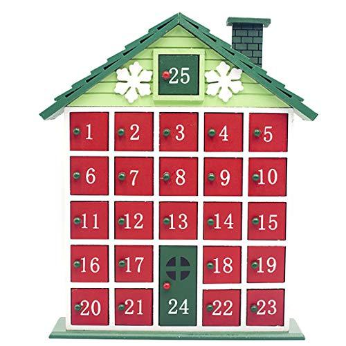 Weihnachten Holzhaus Countdown Adventskalender Weihnachten Aufbewahrungsbox
