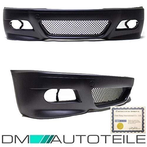 DM Autoteile Evo STOßSTANGE Vorne Schwarz passt für 3er E46 Coupe Cabrio 99-03 nicht M3 M