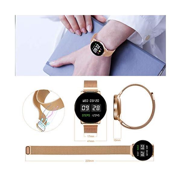 GOKOO Smartwatch Fashion para Hombre Mujer Impermeable Reloj Inteligente
