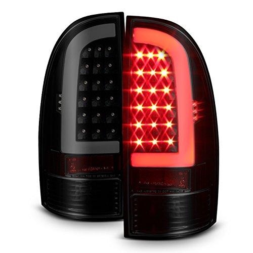 For 05-15 Toyota Tacoma Pickup Black Smoked C-Shape LED Tube Tail Brake Light Lamp Assembly