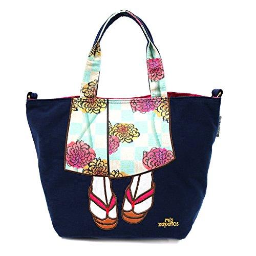 Japanese Women Shoulder Tote Bag - Cute Kimono Dresses Design Japanese Import