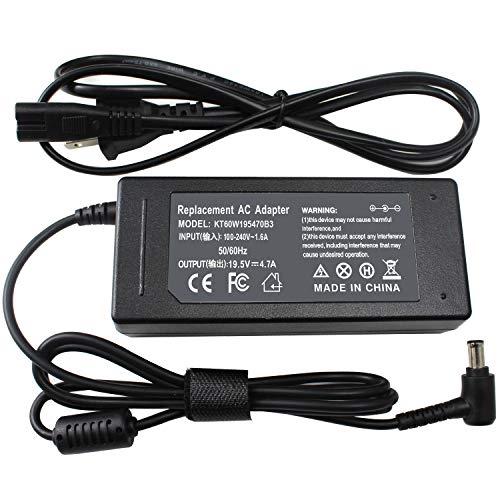 Easy&Fine 19.5V 4.7A AC Adapter Power Supply for Sony Vaio VGP-AC19V20 PCG-3J1L PCG-7Y2L PCG-7192L PCG-91311L PCGA-AC19V10 VGP-AC19V37 VGP-AC19V10 VGP-AC19V12 VGP-AC19V19 VGP-AC19V21 VGP-AC19V23