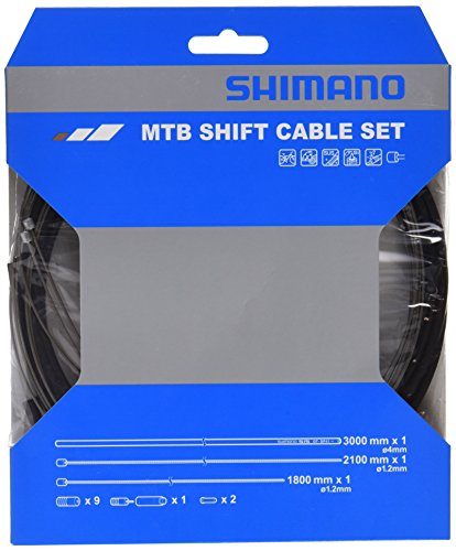SHIMANO MTB SUS Bicycle Shift Cable Set (Black)