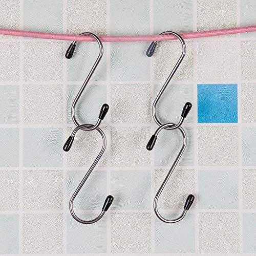 4 stuks roestvrij staal stevige hanger gesp rek s vorm haken voor kleding pot pan handdoek vaatdoek hanger haken, wit