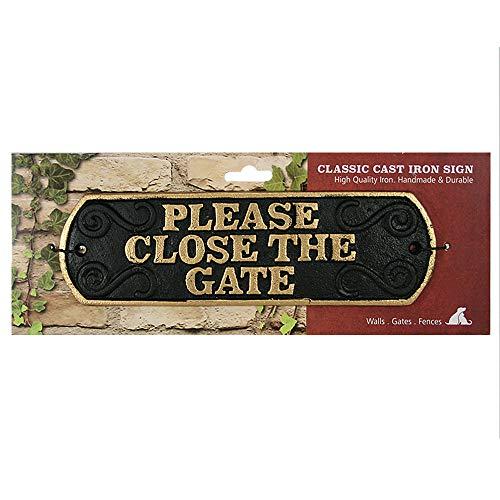 Magneet & Staal Sluit de poort gietijzeren landschapsteken