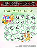Jumbo Dinosaur Coloring Book: 30 Funny Troodon, Stegosaurus, Quetzalcoatlus, Pachycephalosaurus, Triceratops, Quetzalcoatlus, Euoplocephalus, ... Image Quiz Words Activity Coloring Books