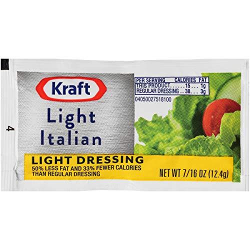 Kraft Light Italian Salad Dressing Single Serve Packet (0.44 oz Packets,...