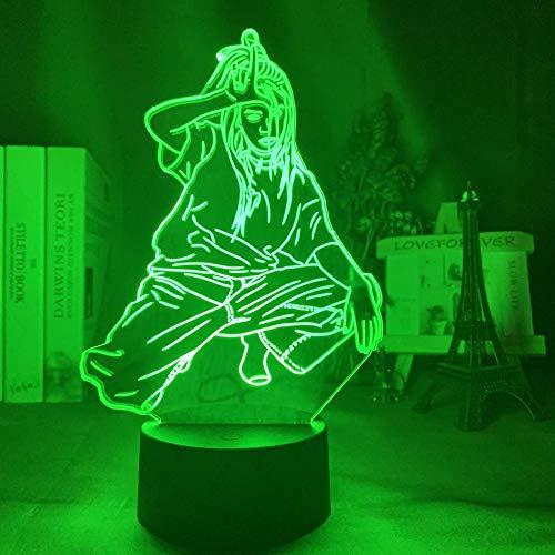 3D Nachtlicht Sänger Billie Eilish Led Nachtlicht Für Fans Dekoration Nachtlicht Usb Batterie Led Bunte Acryl 3D Lampe Dropshipping-16_Color_With_Remote