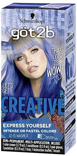 Got2b Creative Semi-Permanent Hair Color, 095 Electric Blue