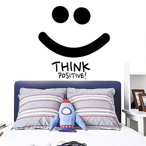 Dessin animé pense positif souriant auto-adhésif vinyle papier peint autocollant pour enfants chambre d'enfants décalcomanies43 cm X 44 cm
