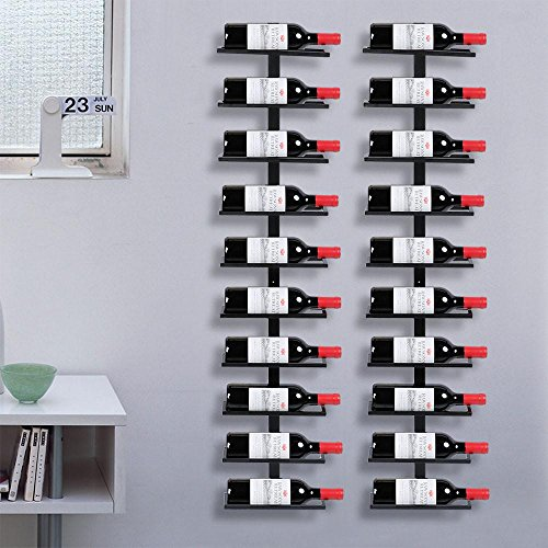Yaheetech 2x Weinregal Wandregal Flaschenständer Weinflaschen, für Küche Bar Keller