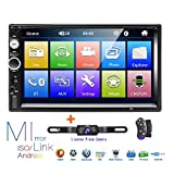 Hikity Double Din Car Stereo 7'' HD Touch Screen Radio Bluetooth FM Receiver