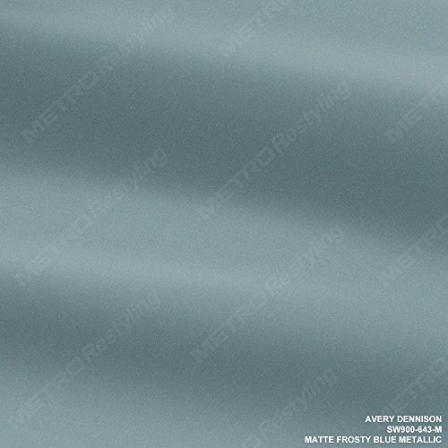 Avery SW900-643-M MATTE FROSTY BLUE METALLIC 1ft x 1ft (1 sq/ft) Supreme Vinyl Car Wrap Film