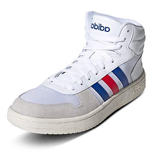 adidas Hoops 2.0 Mid, Scarpe da Ginnastica Uomo, Ftwbla/Reauni/Escarl, 42 2/3 EU