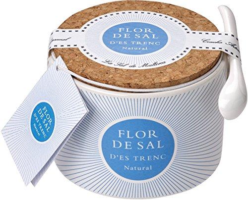 Gusto Mundial Flor de Sal d'es Trenc Natural - in Keramikdose, 1er Pack (1 x 100 g)