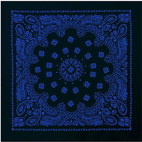 "Rothco Trainmen Paisley Bandana – Extra-Large 27"" X 27"", Black/Blue"