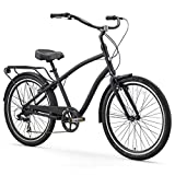 Best Hybrid Bikes For Men - sixthreezero EVRYjourney Men's 7-Speed Hybrid Cruiser Bicycle, Matte Review