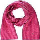 Tommy Hilfiger Unisex PIMA Cotton Cashmere Scarf Schal, Rosa (Pink Flambe 902), One Size (Herstellergröße: OS)