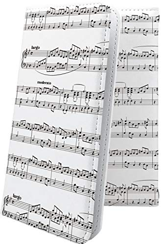 スマートフォンケース・DIGNO T 302KC / M KYL22 / S KYL21 / R 202K・互換 スマートフォンケース・マルチタイプ マルチ対応スマートフォンケース・手帳型 女の子 女子 女性 レディース 楽譜 譜面 ディグノ デザイン イラスト DIGNOT DIGNOS DIGNOR DIGNOM 楽器 音楽 音符 [Vjw21464xwf]
