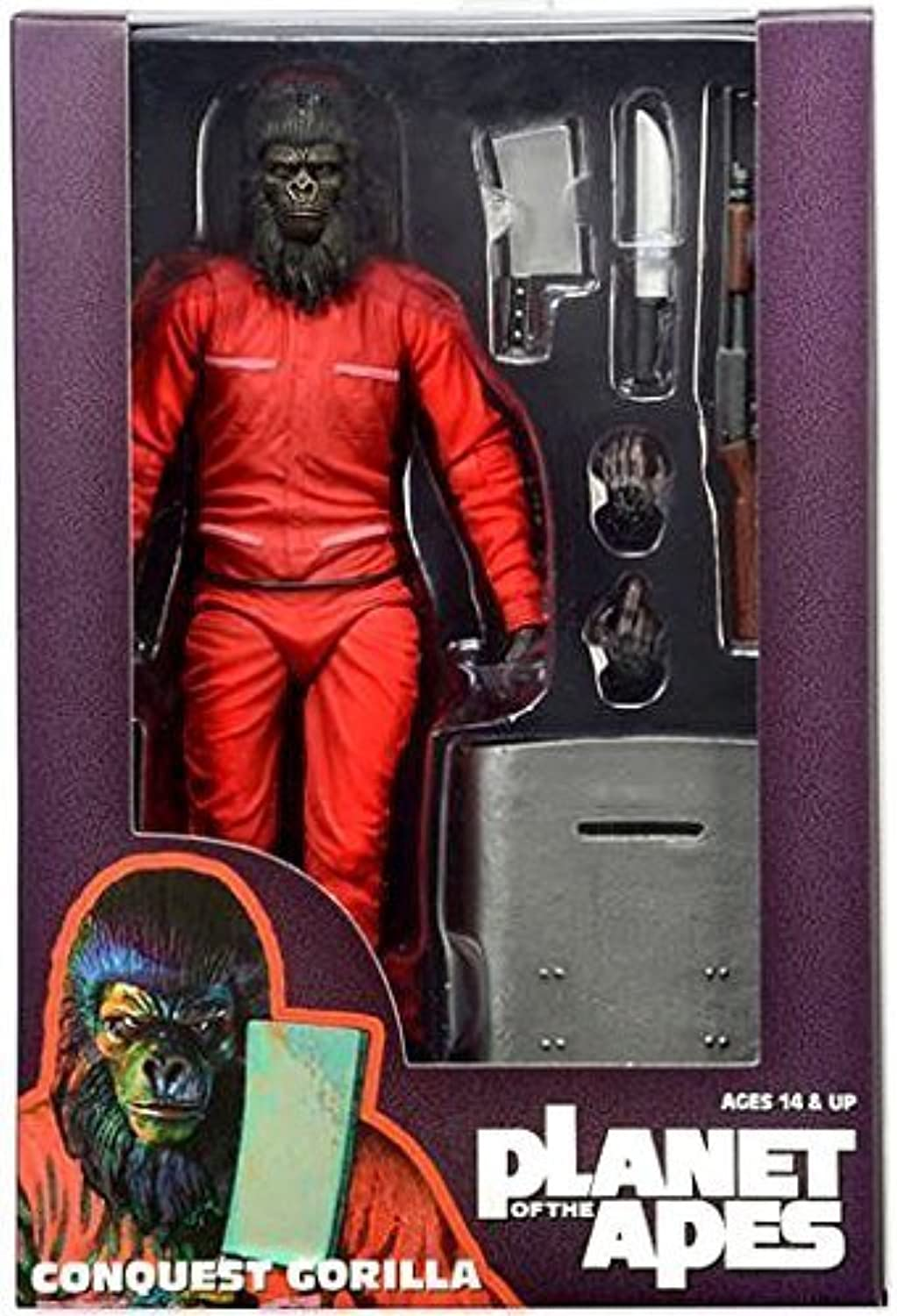 NECA Planet of the Apes classeic Series 3 Conquest Gorilla 7  azione cifra by NECA