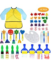 Tobeape 47 PCS Kids Early Learning Sponge Painting Brushes Kit