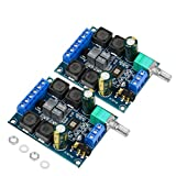 2Pcs Digital Amplifier Board,TPA3116D2 Dual Channel Audio Stereo AMP High Power Digital Subwoofer Power Amplifier Board 2x50W 5V 12V 24V for Store Solicitation Home Theater Square DIY Speakers