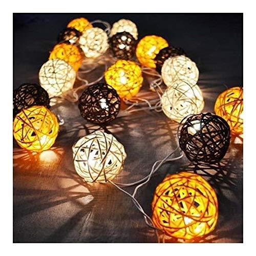 MISLD Urina natalizia 5m ha condotto la stringa Sepak Takraw Sepak Takraw luce della stringa 20 ghirlanda luci Fence imbarco Beach Bar decorazione della festa nuziale libero (3cm Balls, Dimensione: 5m