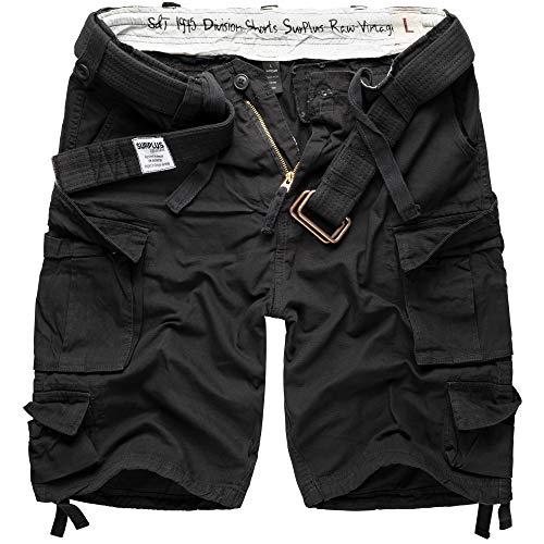 Surplus Division Herren Cargo Shorts, schwarz, M