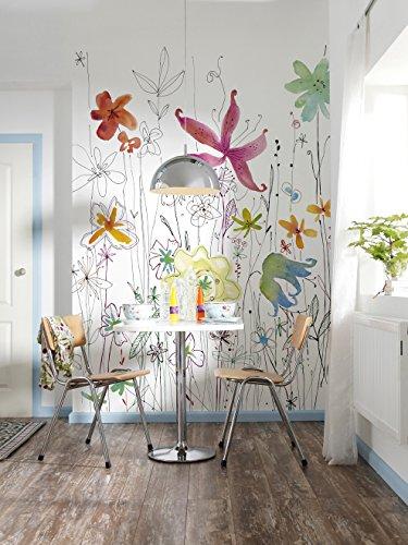 Komar-Poster XXL 2-022 184 x 24,8 cm, motivo floreale, con fantasia carta da parati murale, multicolore (Confezione da 2)