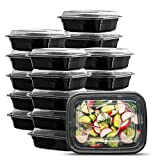 [50 Sets - 12 oz.] Meal Prep Containers With Lids, 1 Compartment Lunch Containers, Bento Boxes, Food...