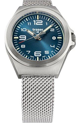 Traser H3 P59 Classic Essential S Blue Tactical Watch Militare Orologio da polso in acciaio inox