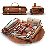 Travel Bartender Kit Bag,17-Piece Bar Tool Set with Stylish Portable Bar Bag and Shoulder Strap, for Cocktail Making, Home, Work, Parties