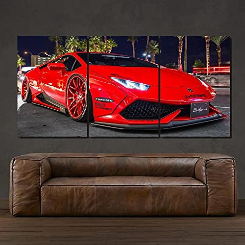 45Tdfc Red Luxury Lamborgh Supercar Póster en Lienzo,póster artístico Cuadro artístico de Pared,impresión,Moderno,póster de decoración para Dormitorio Familiar,30x50cm