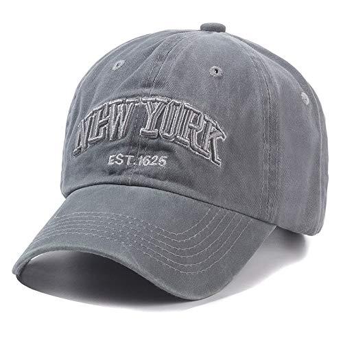 WAZHX Gorra De Algodón Lavado De Nueva York para Hombres, Mujeres, Gorras, Gorras De Béisbol, Gorra De Papá, Gorra para Exteriores