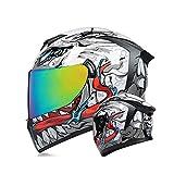 MotuoMr Unisex-Adult Full Face Motorcycle Helmet DOT Approved Motorbike...