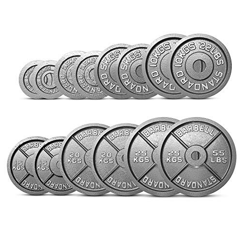 """EXTREME FITNESS Olympic Weight Plates Disc Cast Iron 2"""" Discs Barbell Bar Gym Sets (2 x 1.25kg)"""