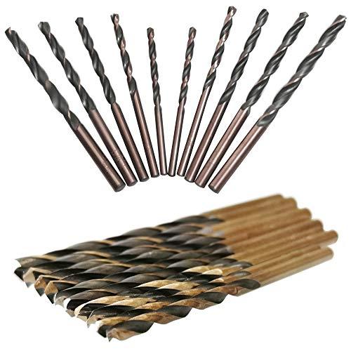 CESFONJER punte in metallo HSS, punte per trapano in acciaio rapido cobalto, punta per metallo, 3mm 2P, 3.5mm 2P, 4mm 2P, 4.5mm 2P, 5mm 2P (10 pz)