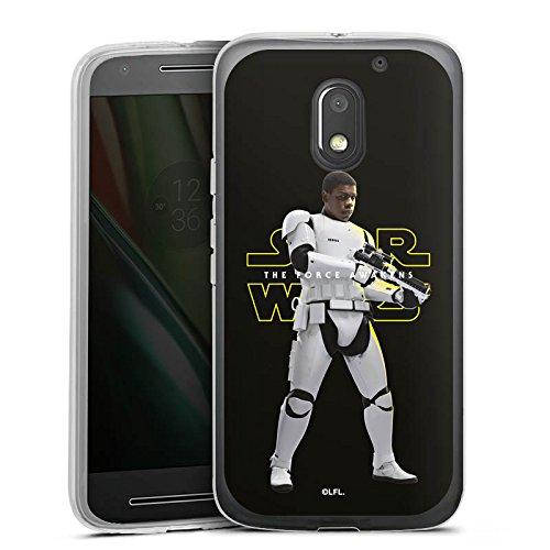 DeinDesign Silikon Hülle kompatibel mit Lenovo Moto E3 Hülle transparent Handyhülle Star Wars Stormtrooper Fanartikel