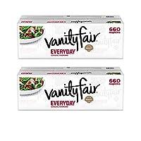 Vanity Fair Everyday Napkins, 660 ct, White Paper Napkins - 2 Pack