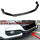 MotorFansClub Front Bumper Lip fit for compatible with Honda Accord 9th 9.5th 2014-2017 Splitter Trim Protection Spoiler, Black