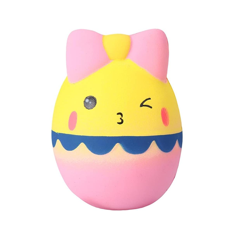 Livoty Jumbo Kawaii Cartoon Egg Squishy Slow Rising Toys Cream Scented Stress Reliever Toy