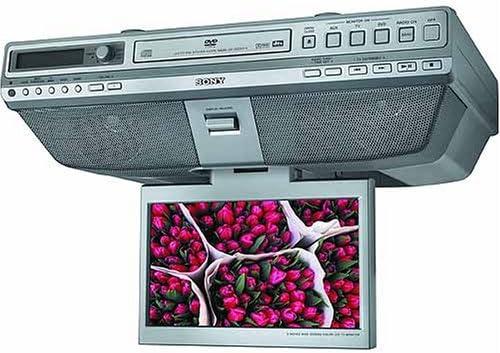 Amazon Com Sony Icf Dvd57tv Under The Cabinet Lcd Tv Dvd Cd Clock Radio Electronics