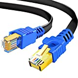 Flat Cat8 Ethernet Cable 1m, Hanprmeee 26AWG Cat 8...